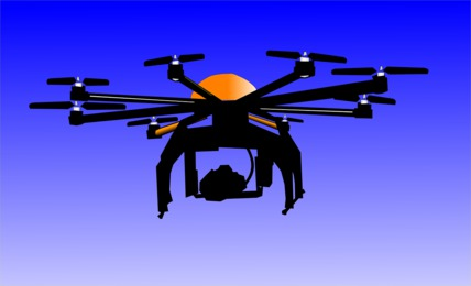 Flying Drone With Camera In Denison IA